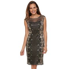 Petite Chaya Lace Overlay Midi Dress