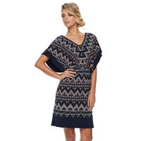 Petite Chaya Geometric Dolman Dress