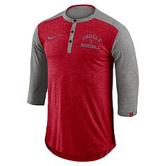 Men's Nike Los Angeles Angels of Anaheim Flux Henley