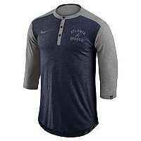 Men's Nike Atlanta Braves Flux Henley