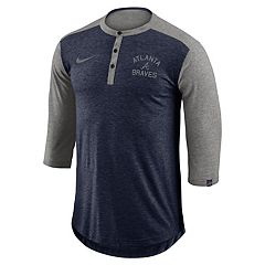 Men's Nike Atlanta Braves Flux Henley
