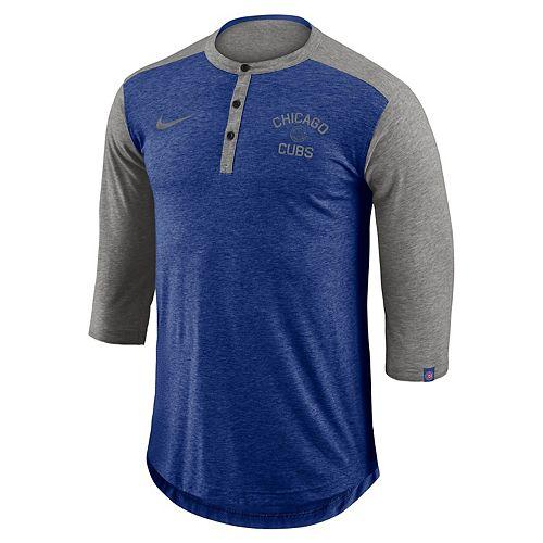 Men's Nike Chicago Cubs Flux Henley