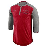 Men's Nike St. Louis Cardinals Flux Henley