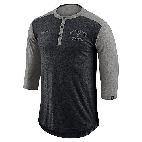 Men's Nike San Francisco Giants Flux Henley