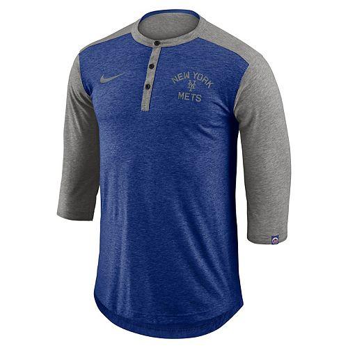 Men's Nike New York Mets Flux Henley