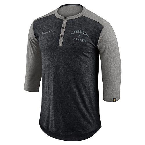 Men's Nike Pittsburgh Pirates Flux Henley