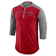 Men's Nike Cincinnati Reds Flux Henley