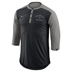 Men's Nike Colorado Rockies Flux Henley