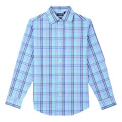 Boys 8-20 Chaps Plaid Stretch Button-Front Shirt