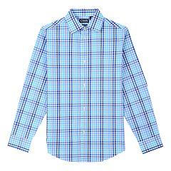 Boys 8-20 Chaps Plaid Button-Front Shirt
