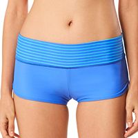 Women's Speedo Striped-Waist Boyshort Swim Bottoms