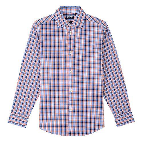 Boys 8-20 Chaps Button-Down Plaid Shirt