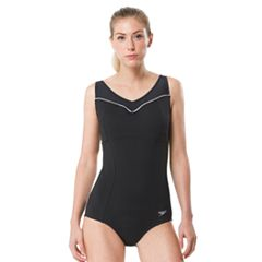 Women's Speedo Contrast Mesh One-Piece Swimsuit