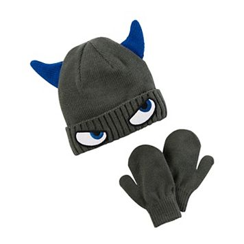 Baby Boy Carter's Monster 3D Beanie & Mittens Set