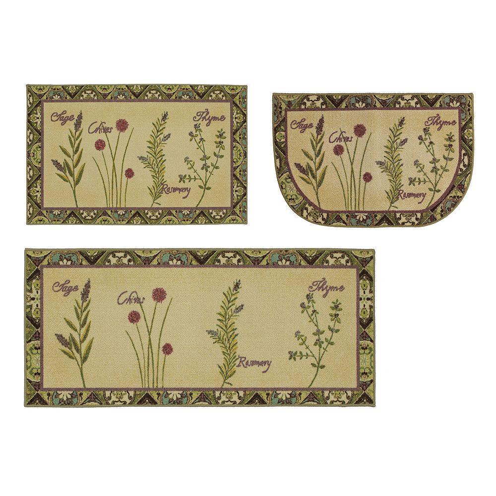Mohawk® Home Herb Tiles Washable Kitchen Rug