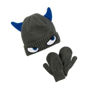 Toddler Boy Carter's Monster 3D Beanie & Mittens Set