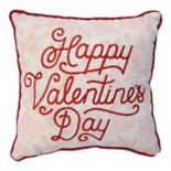 "Celebrate Valentine's Day Together ""Happy Valentine's Day"" Mini Throw Pillow"