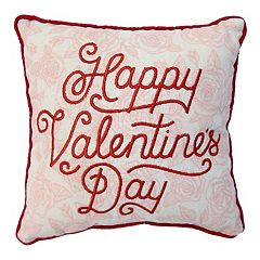 Celebrate Valentine's Day Together 'Happy Valentine's Day' Mini Throw Pillow