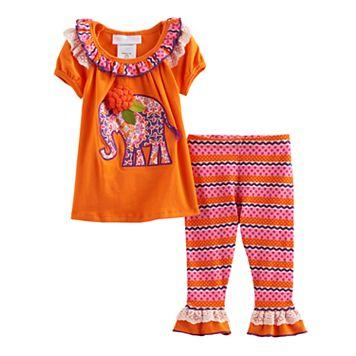Baby Girl Bonnie Jean Elephant Tunic & Leggings Set