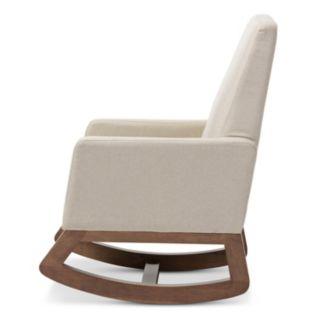 Baxton Studio Mid-Century Rocking Chair & Stool 2-piece Set
