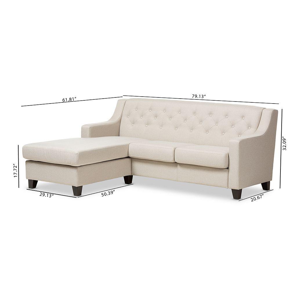 Baxton Studio Arcadia Tufted Sectional Sofa
