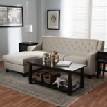 Baxton Studio Arcadia Tufted Sectional Sofa