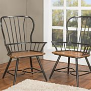 Baxton Studio Longford Arm Dining Chair 2 pc Set
