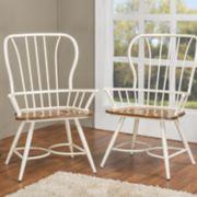 Baxton Studio Longford Arm Dining Chair 2-piece Set
