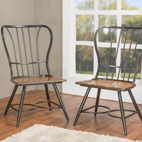 Baxton Studio Longford Armless Dining Chair 2-piece Set