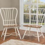Baxton Studio Longford Armless Dining Chair 2-piece Set