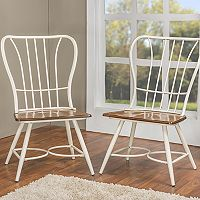 Baxton Studio Longford Armless Dining Chair 2 pc Set