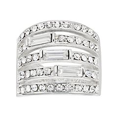 Jennifer Lopez Silver Tone Multi Row Ring