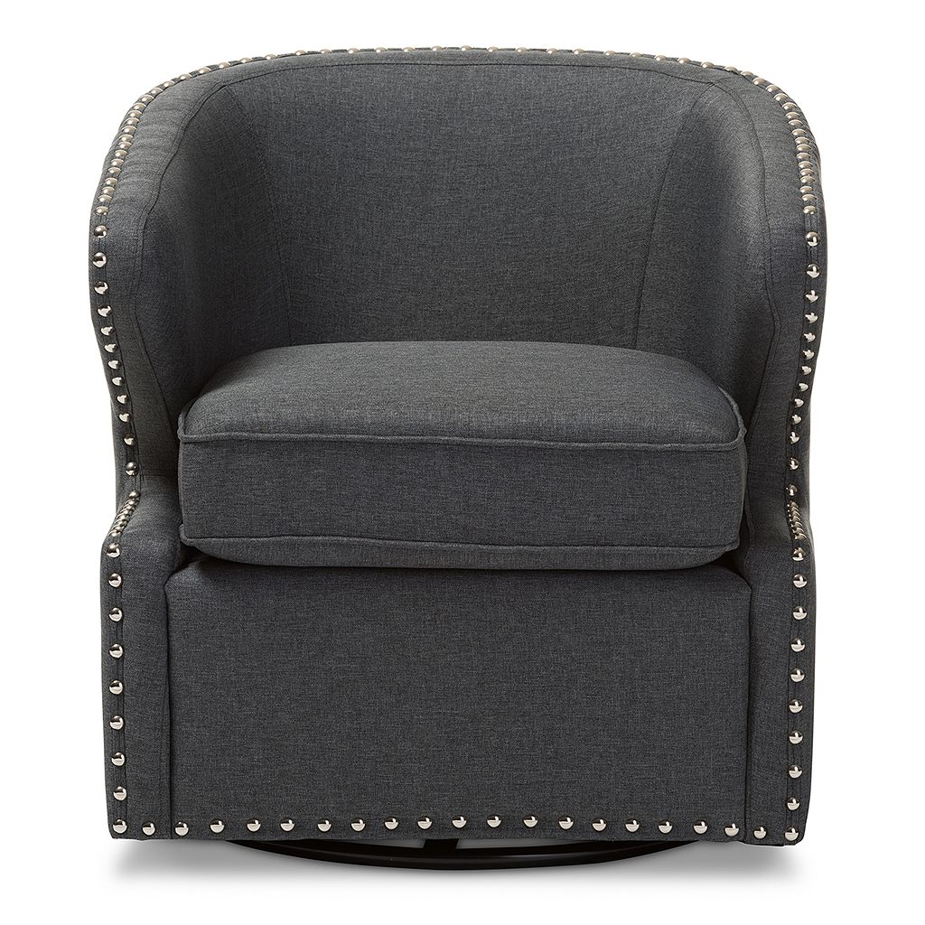 Baxton Studio Finley Swivel Tub Accent Chair