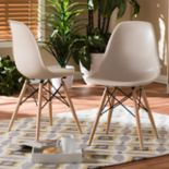 Baxton Studio Mid-Century Modern Dining Chair 2-piece Set