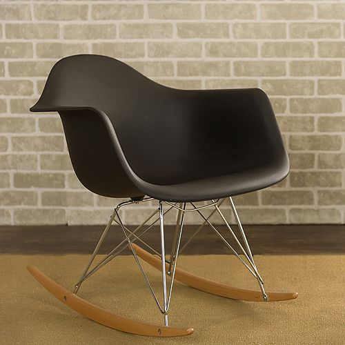 Baxton Studio Mid-Century Modern Rocking Chair