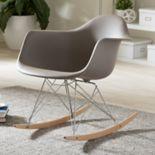 Baxton Studio Mid-Century Modern Rocking Chair