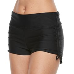 Women's Croft & Barrow® Midrise Drawstring Swim Shorts