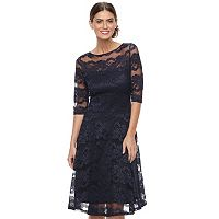 Women's Chaya Floral Lace Illusion Fit & Flare Dress