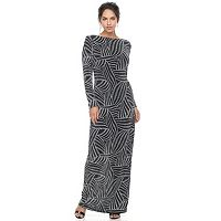 Women's Chaya Patterned Long-Sleeve Maxi Dress