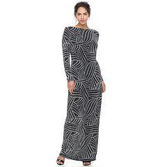 Women's Chaya Patterned Long-Sleeve Maxi Dress