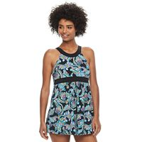 Women's A Shore Fit Hip Minimizer High-Neck Swimdress