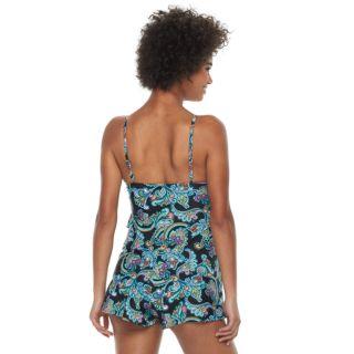 Women's A Shore Fit Hip Minimizer Tiered One-Piece Swim Romper