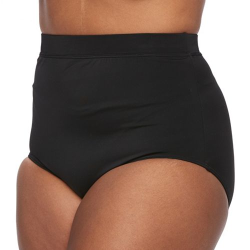 Plus Size A Shore Fit High-Waisted Brief Bottoms