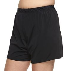 Plus Size A Shore Fit Hip Minimizer Swim Shorts