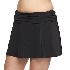 Plus Size A Shore Fit Hip Minimizer Cover-Up Swim Skirt