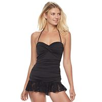 Women's Apt. 9® Lace Hem Swimdress