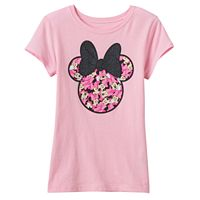 Disney's Minnie Mouse Girls 7-16 Many Minnie's Glitter Bow Graphic Tee