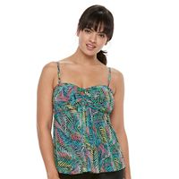 Women's A Shore Fit Tummy Slimmer Mesh Bandeaukini Top