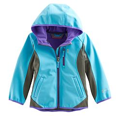 Girls 4-16 Free Country Lightweight Embossed Dot Colorblock Softshell Jacket
