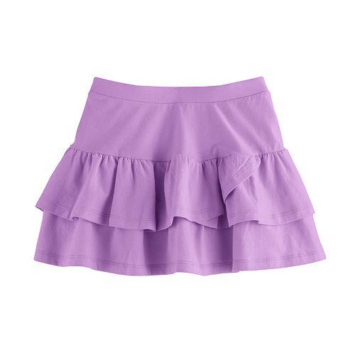 Girls 4-10 Jumping Beans® Tiered Solid Tulip Skort